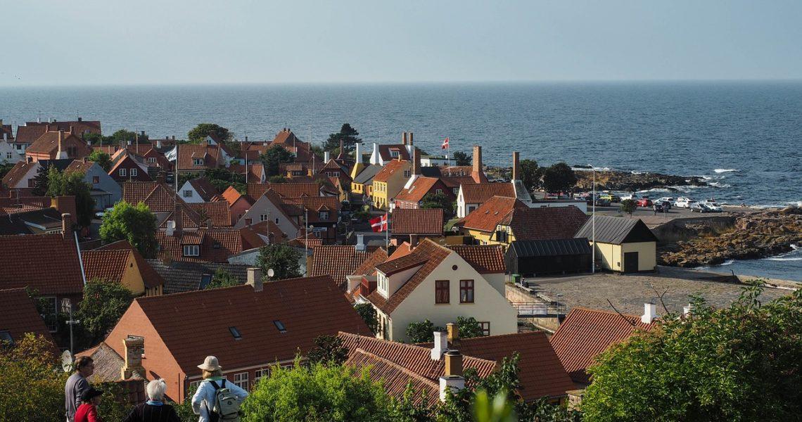 Udsigt over kystlinjen på Bornholm
